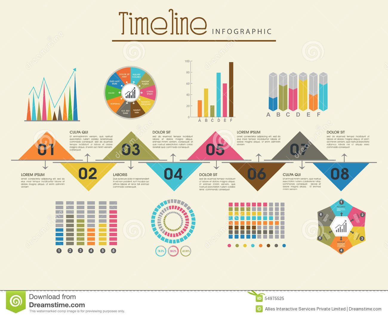 Creative Timeline Infographic Template Layout. Stock ...
