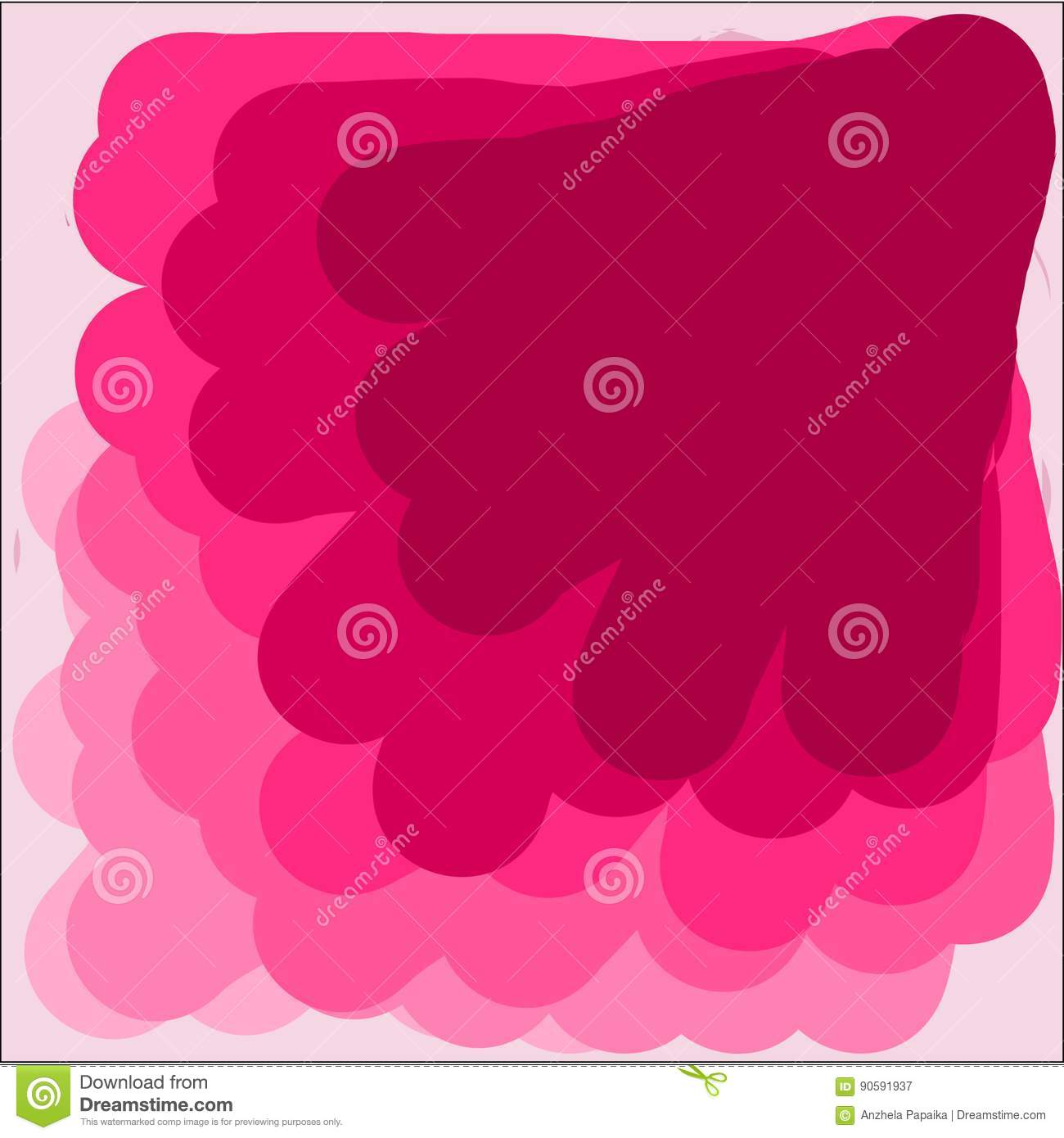 Creative Universal Abstract Greeting Cards In Pink Light And Dark