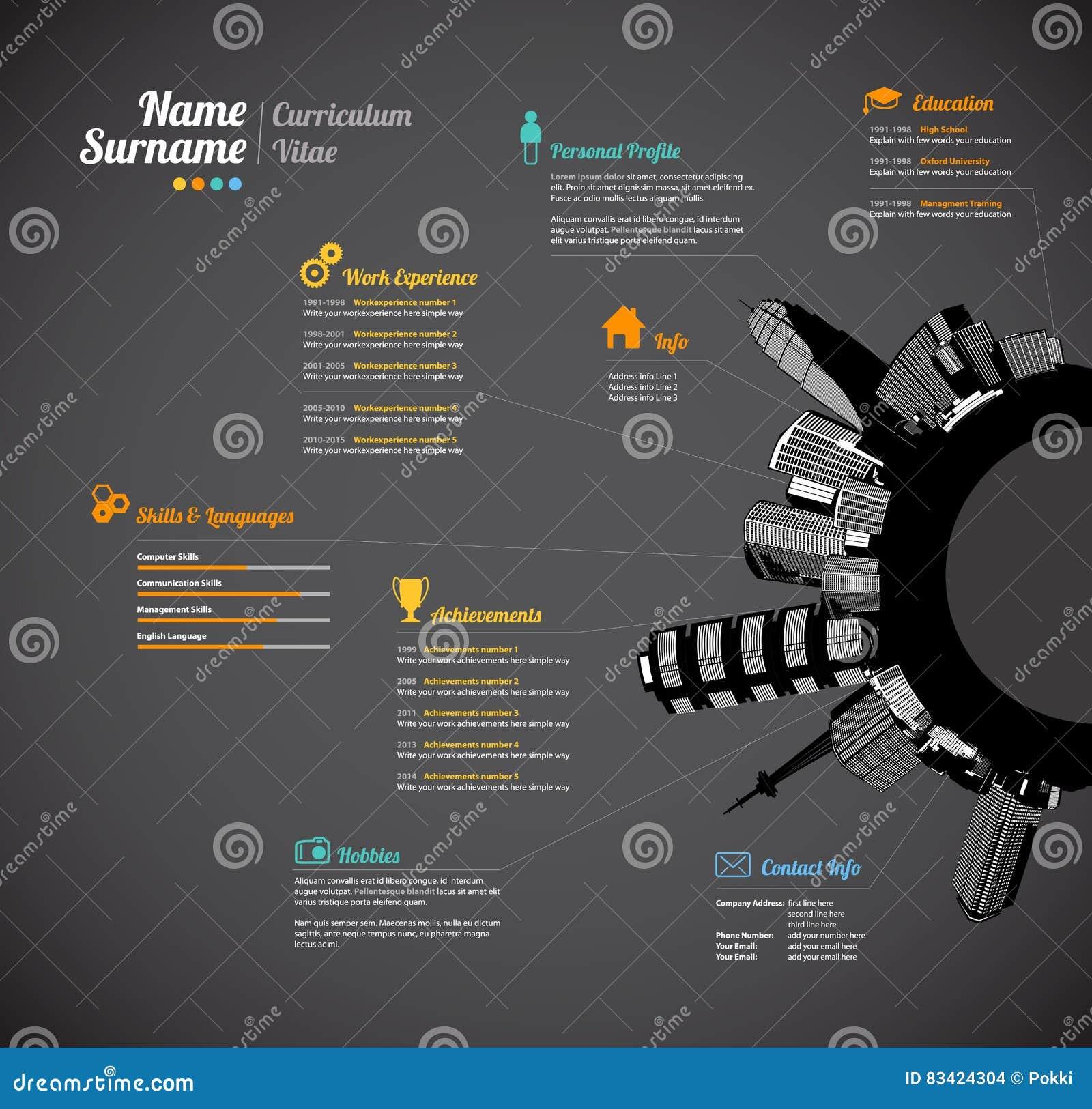 creative urban curriculum vitae resume template