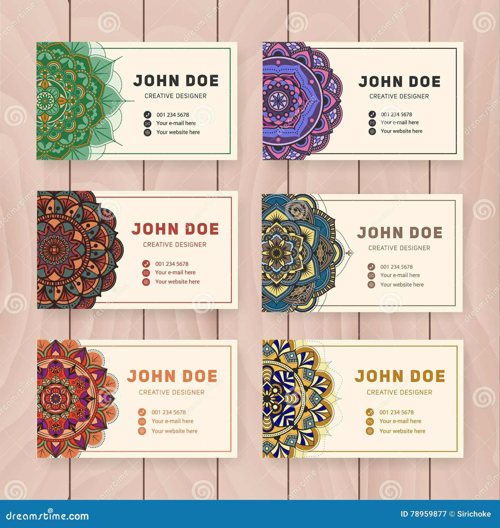 Creative Useful Business Name Card Design Stock Vector