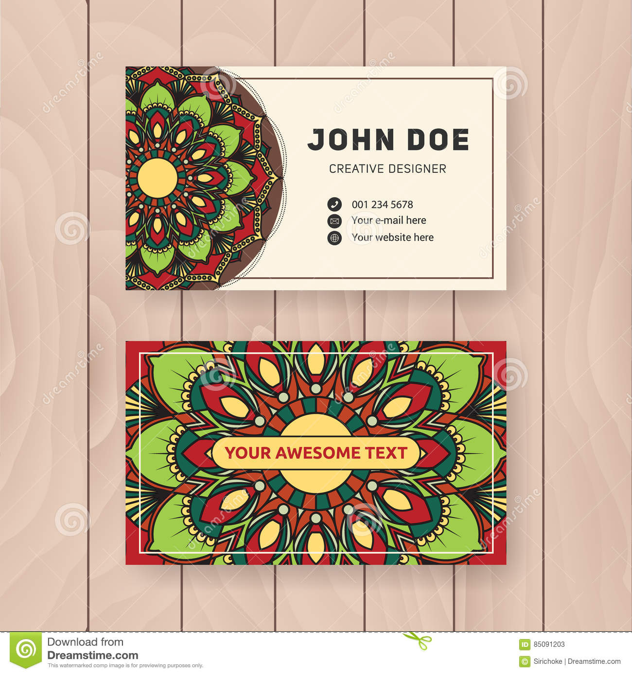 Download Creative Useful Business Name Card Design Stock Vector