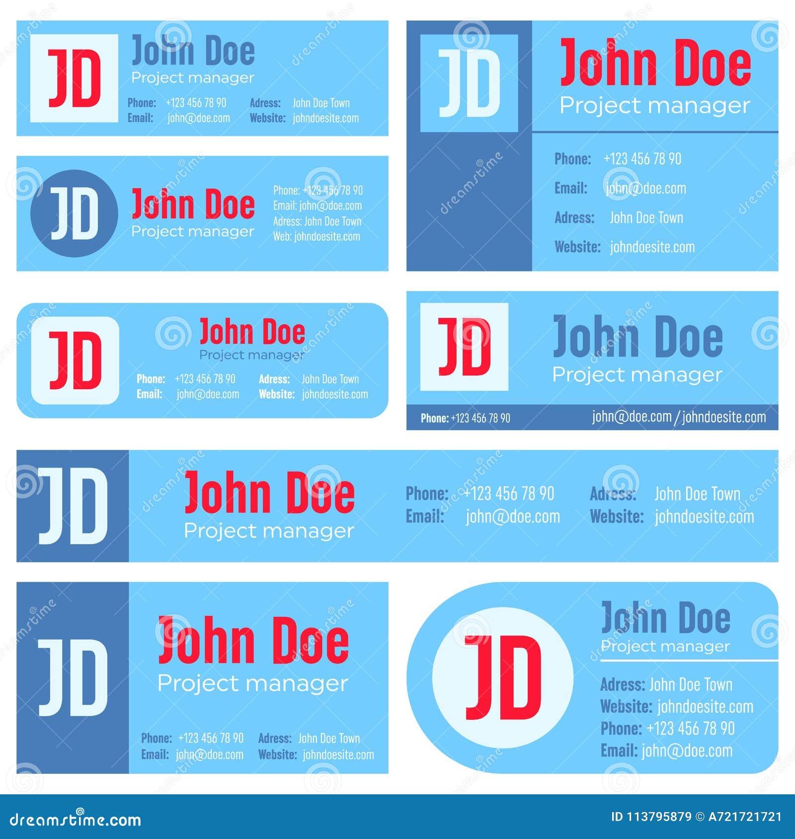Creative Vector Illustration Of Business E-mail Signature Template ...