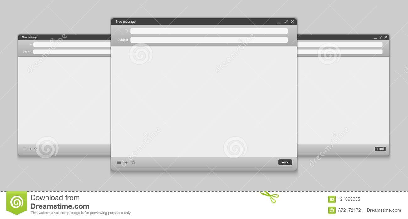 Creative Vector Illustration Of Email Message Interface With Send