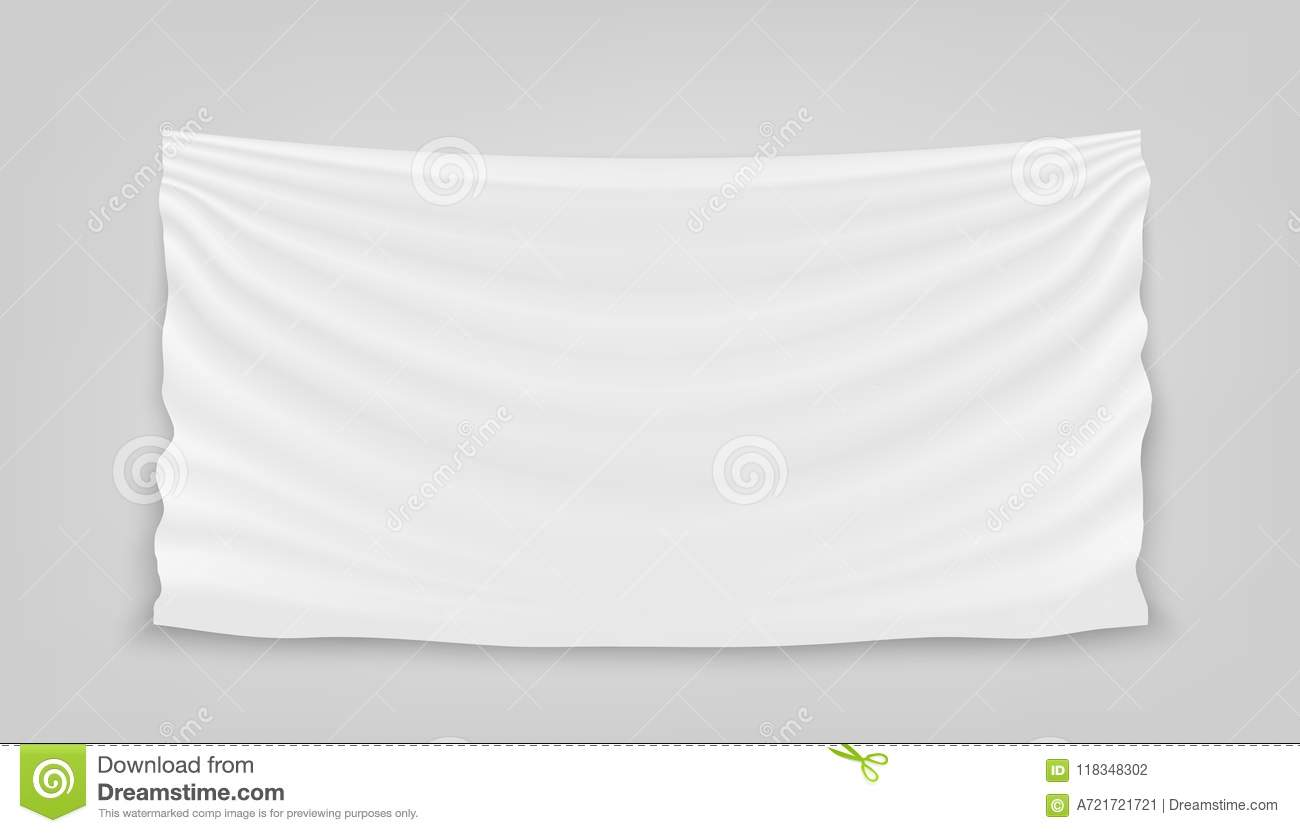 Creative Vector Illustration Of Hanging Empty White Cloth Isolated ...