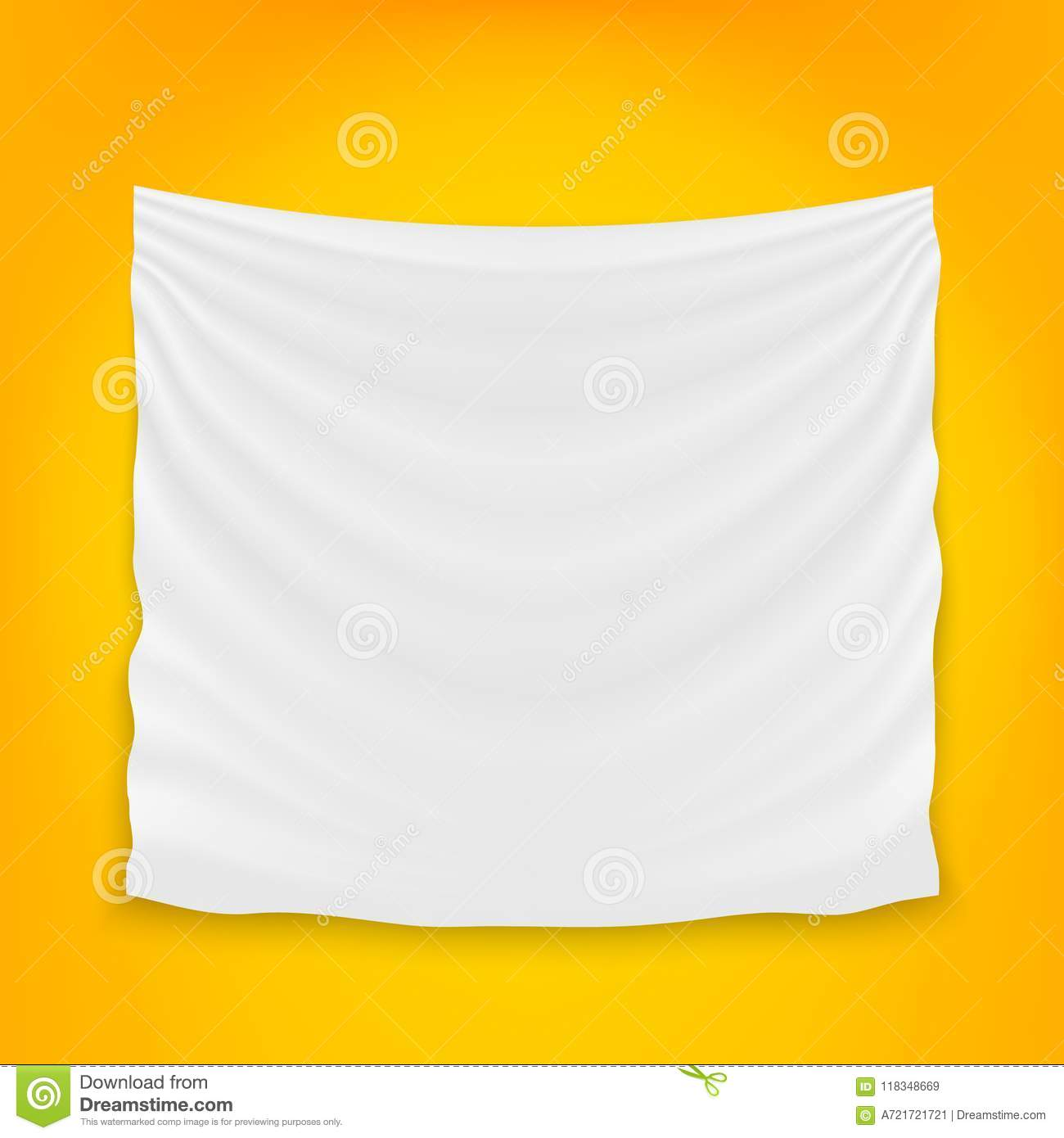 Creative Vector Illustration Of Hanging Empty White Cloth Isolated