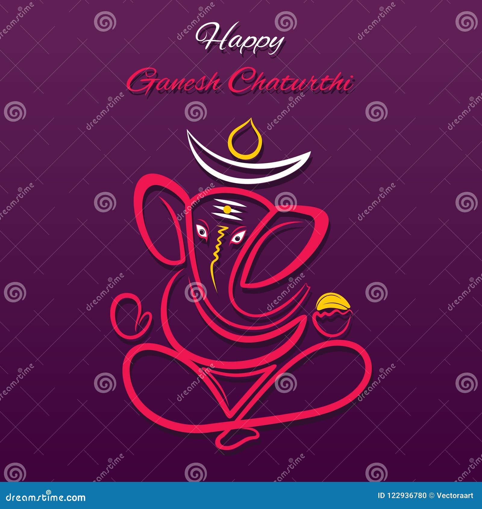 creative poster of celebrate ganesh chaturthi festival stock vector