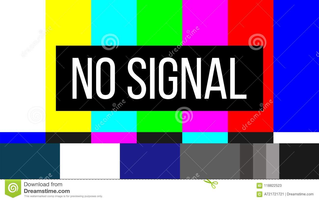 Creative Vector Illustration Of No Signal TV Test Pattern Background