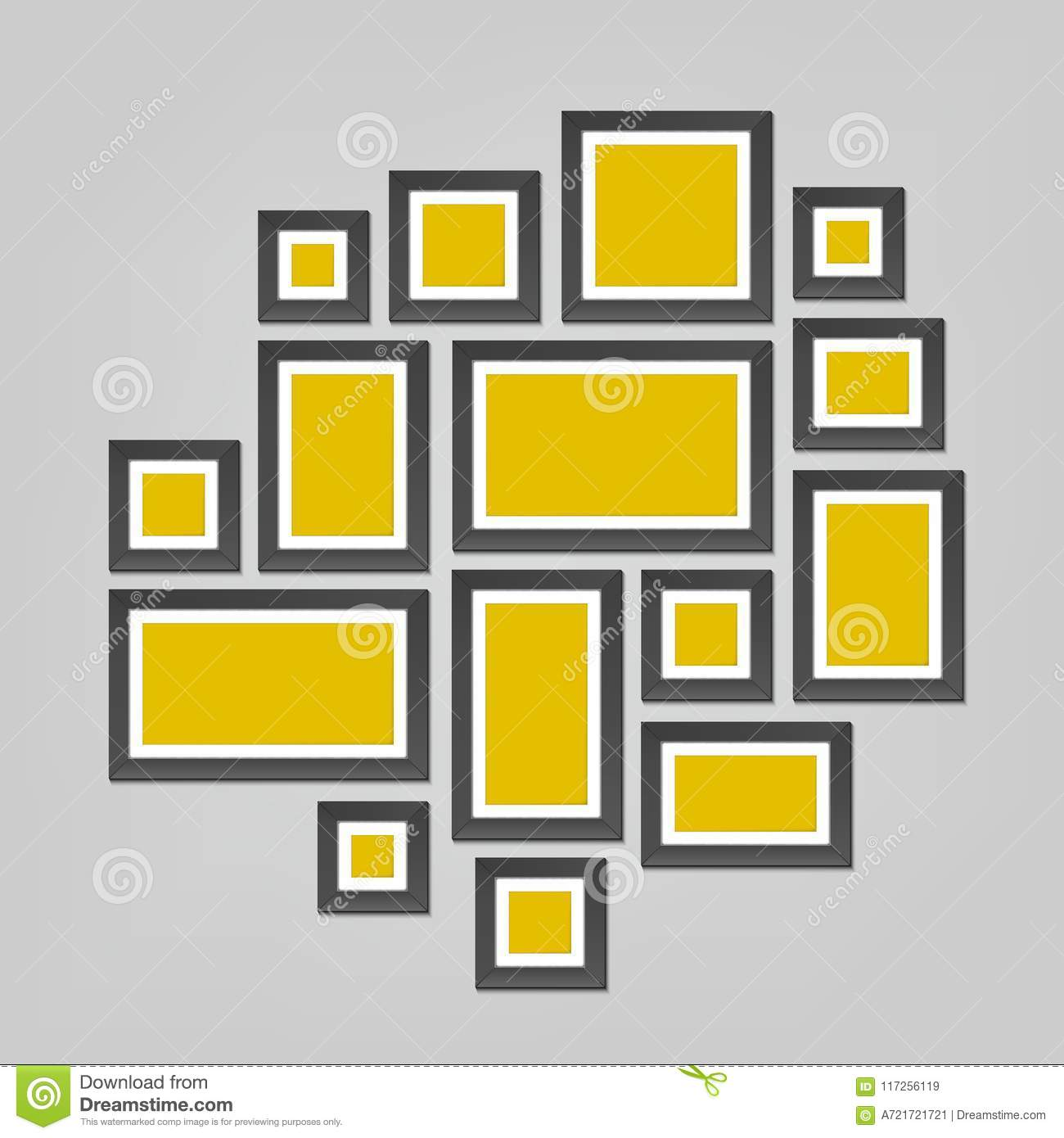 Creative Vector Illustration Of Wall Picture Frames Template ...