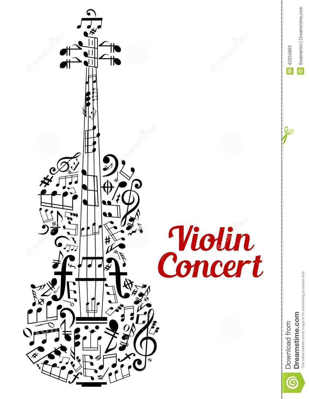 Creative Violin Concert Poster Design Stock Vector - Image: 42255883