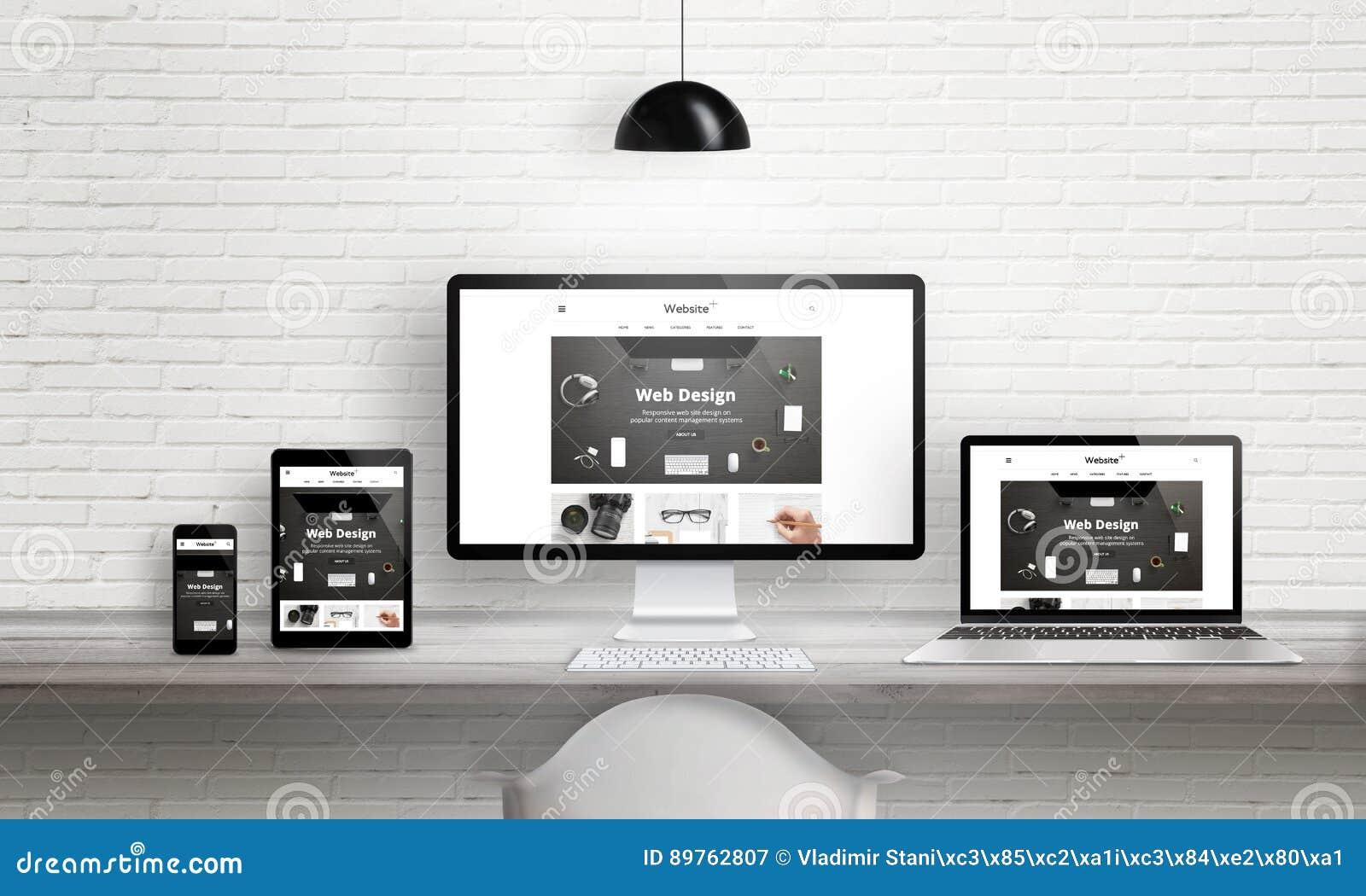 Creative Web Design Agency Presentation On Multiple Devices
