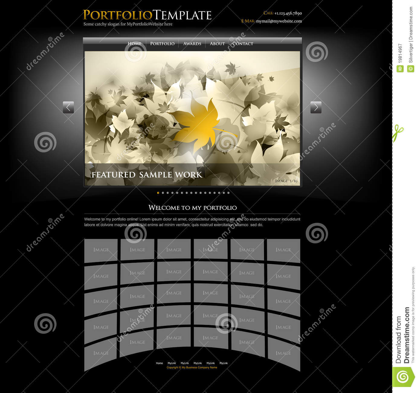 Creative Website Portfolio Template Editable Stock Vector - Free photography website templates