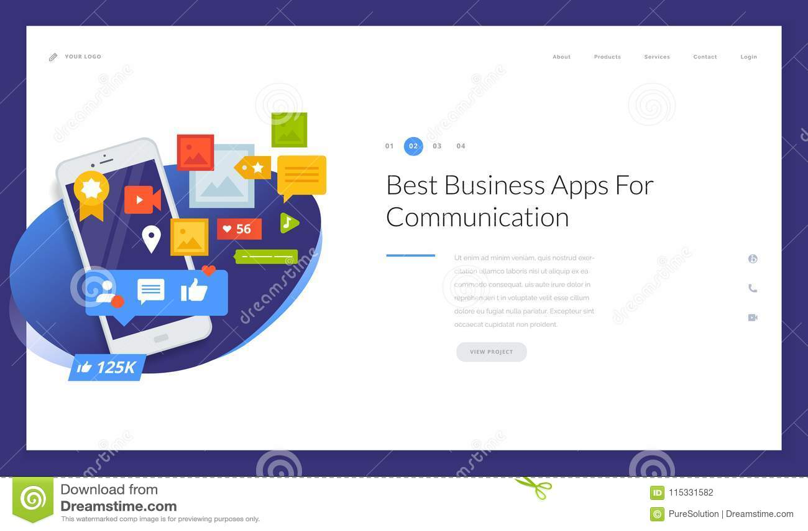 creative website template design stock vector illustration of