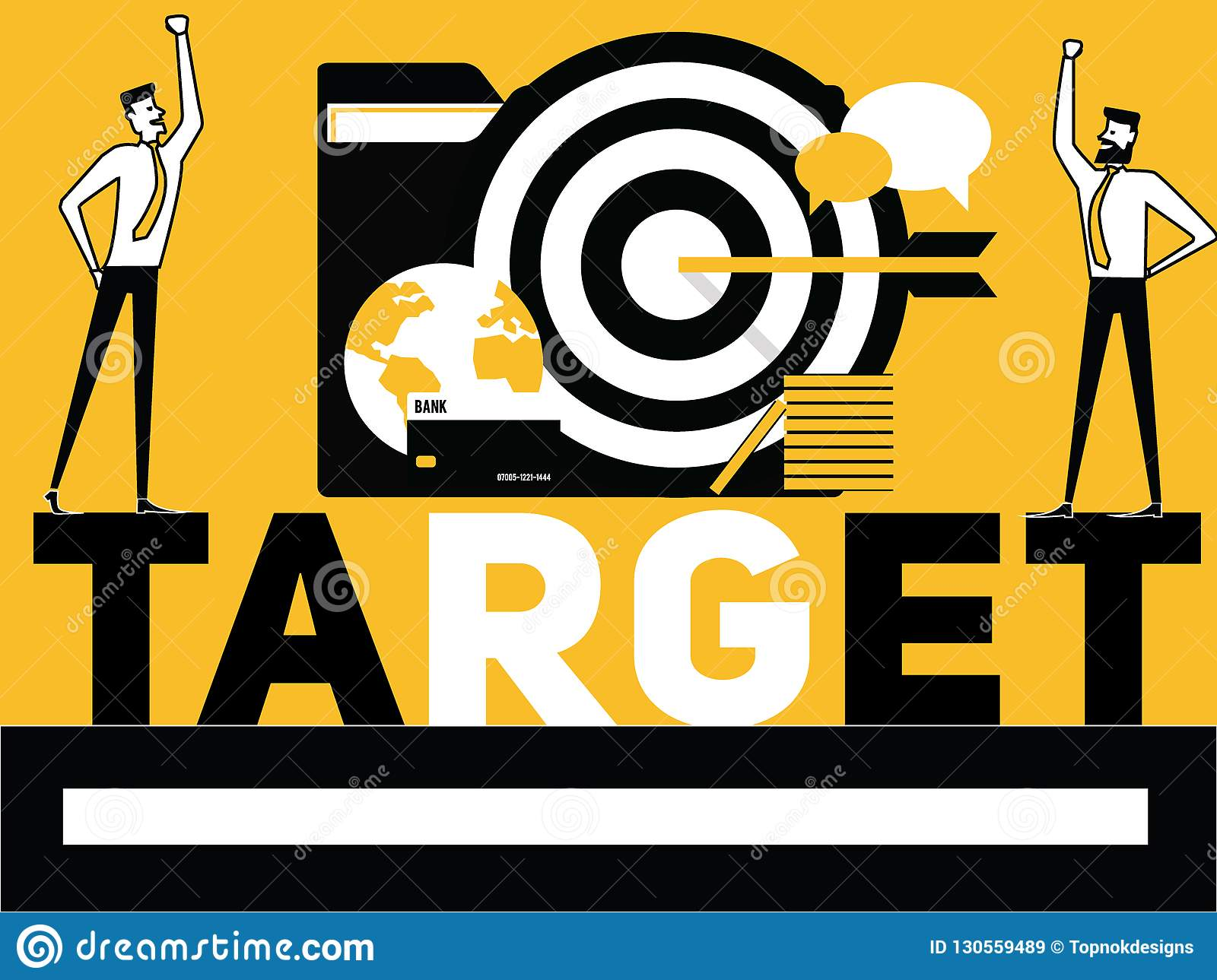 Creative Word concept Target and People doing things