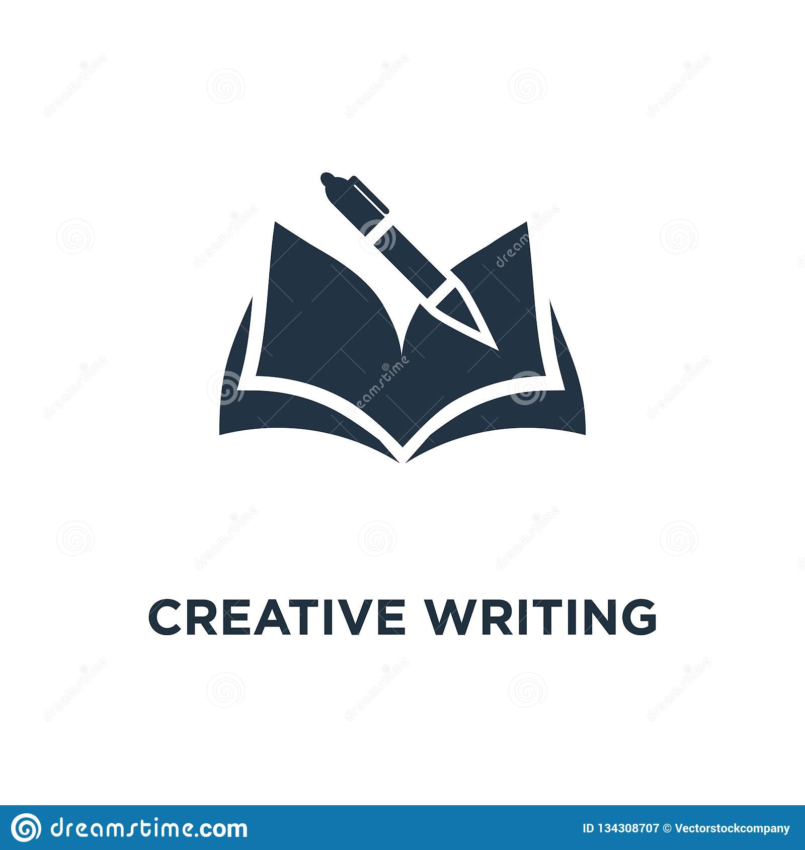 creative writing and storytelling icon. education concept symbol design, opened book, school study, learning subject, book review