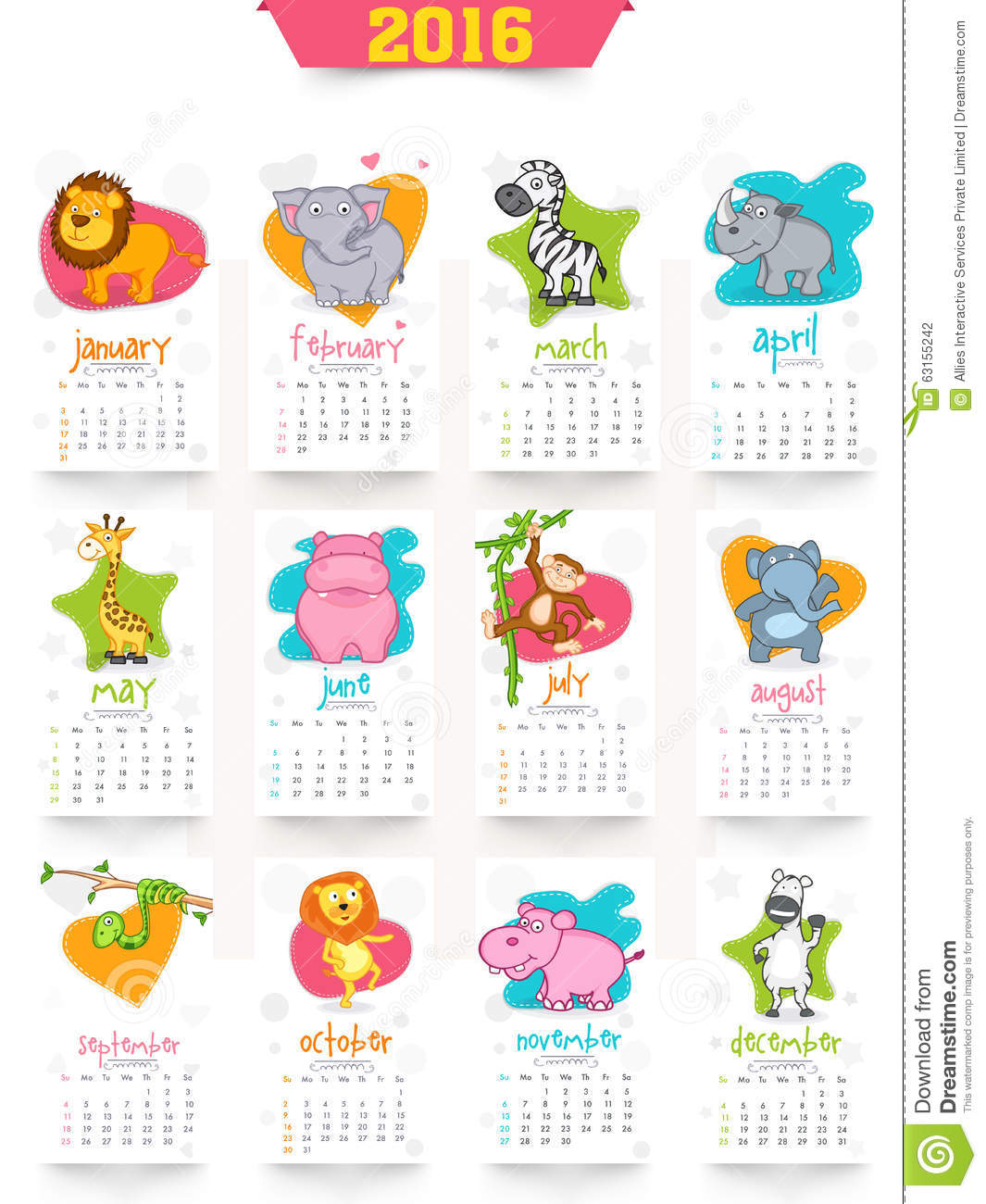 New Year Calendar Design : Creative yearly calendar for new year celebration