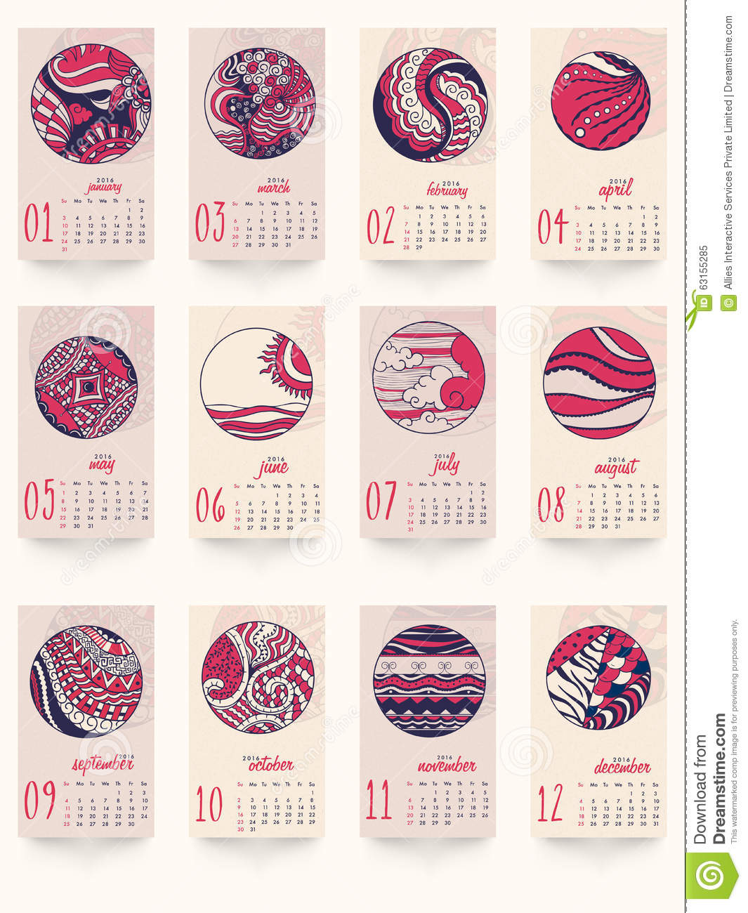 Monthly Calendar Design Creative : Creative yearly calendar for new year celebration