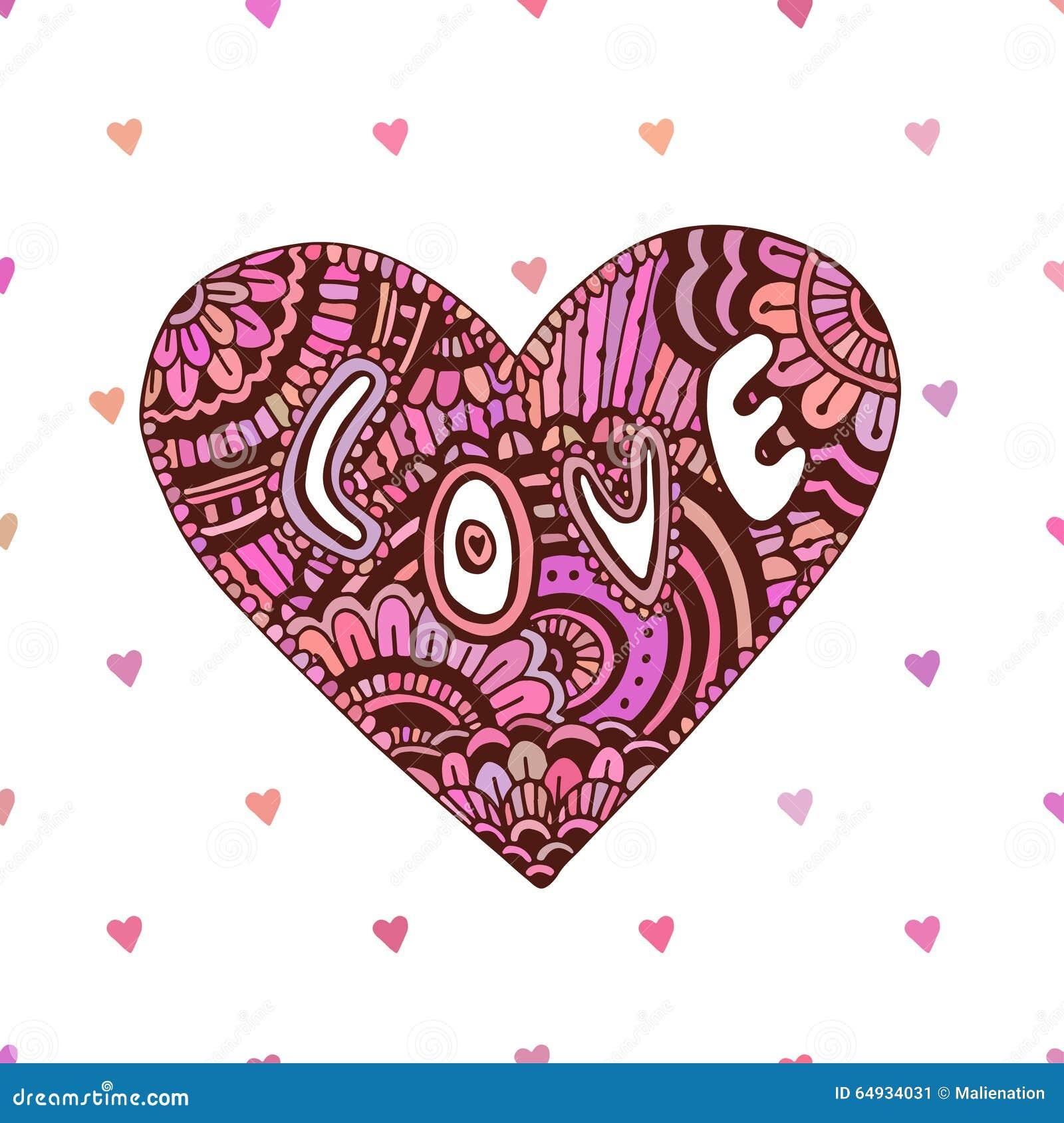 Zentangle with heart | Zentangle pictures | Pinterest |Zentangle Heart Graphics