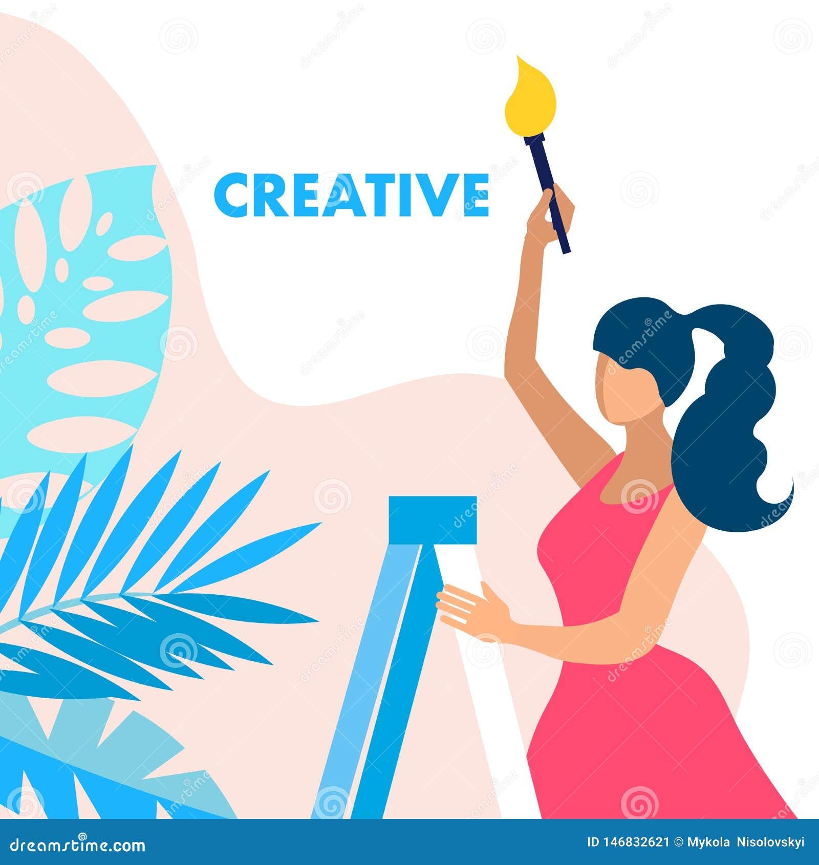 Creatividad, concepto de Service Vector Banner del diseñador