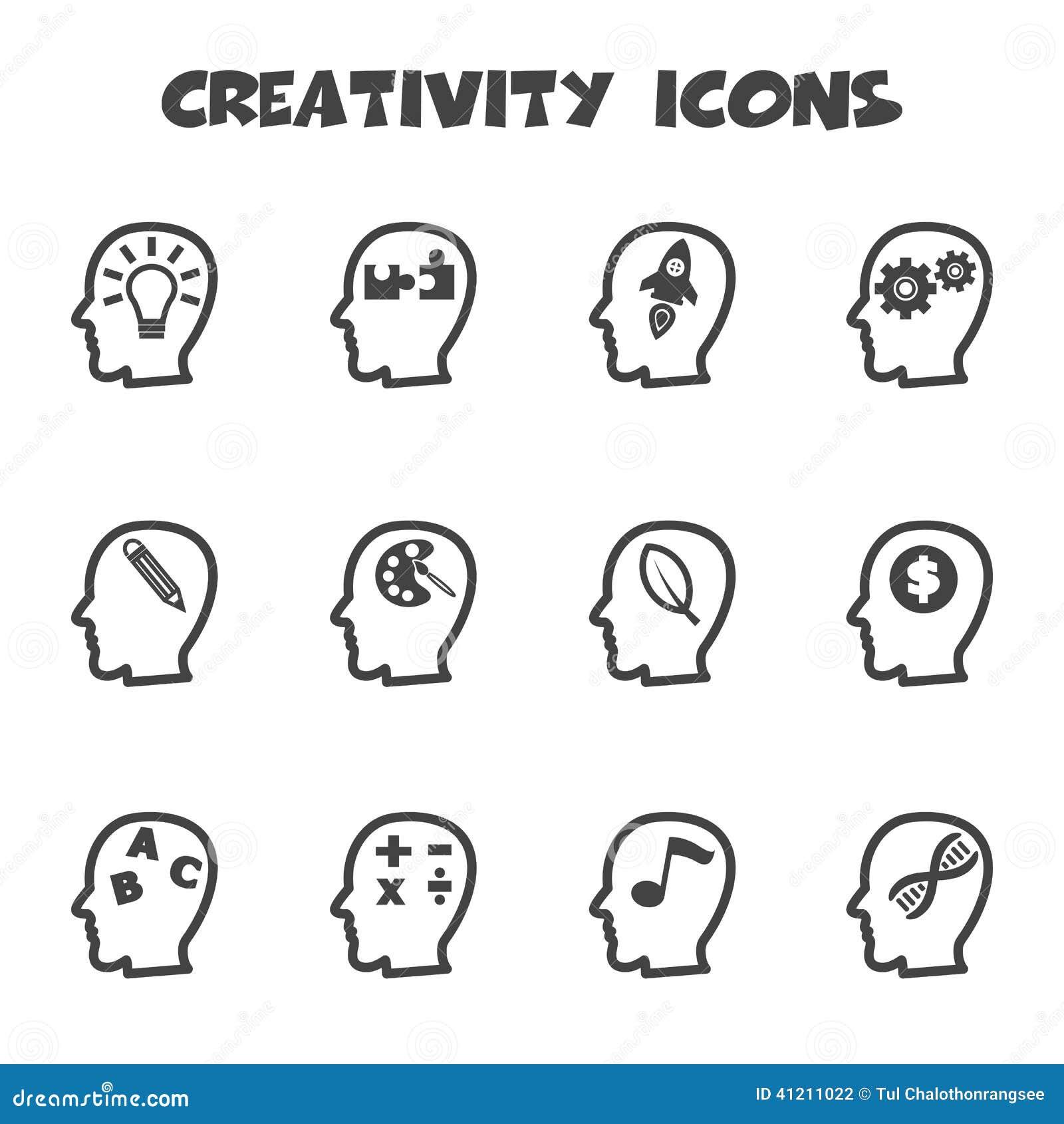 creativity icons stock vector image 41211022