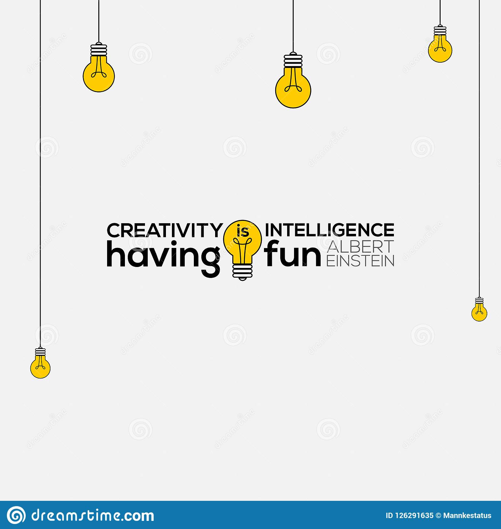 Creativity Is Intelligence Having Fun Wall Art Albert Einstein