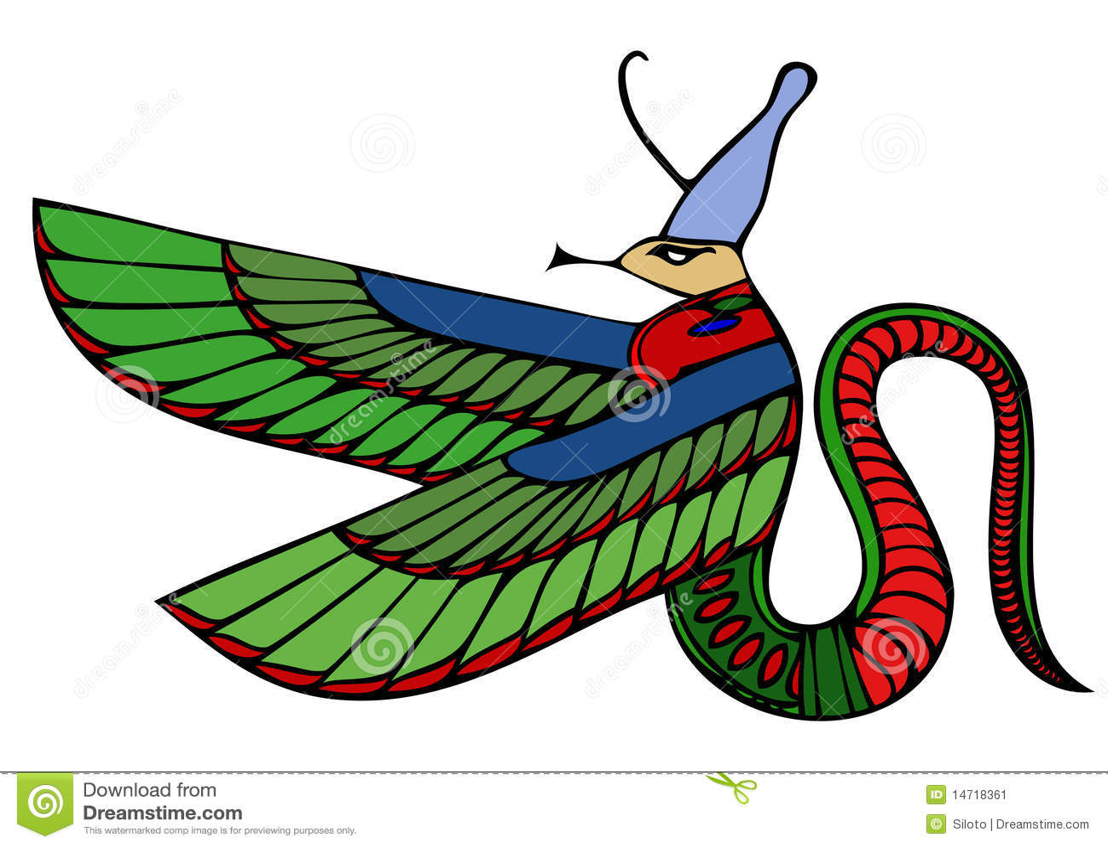 egyptian demon dragon stock image image 14681621