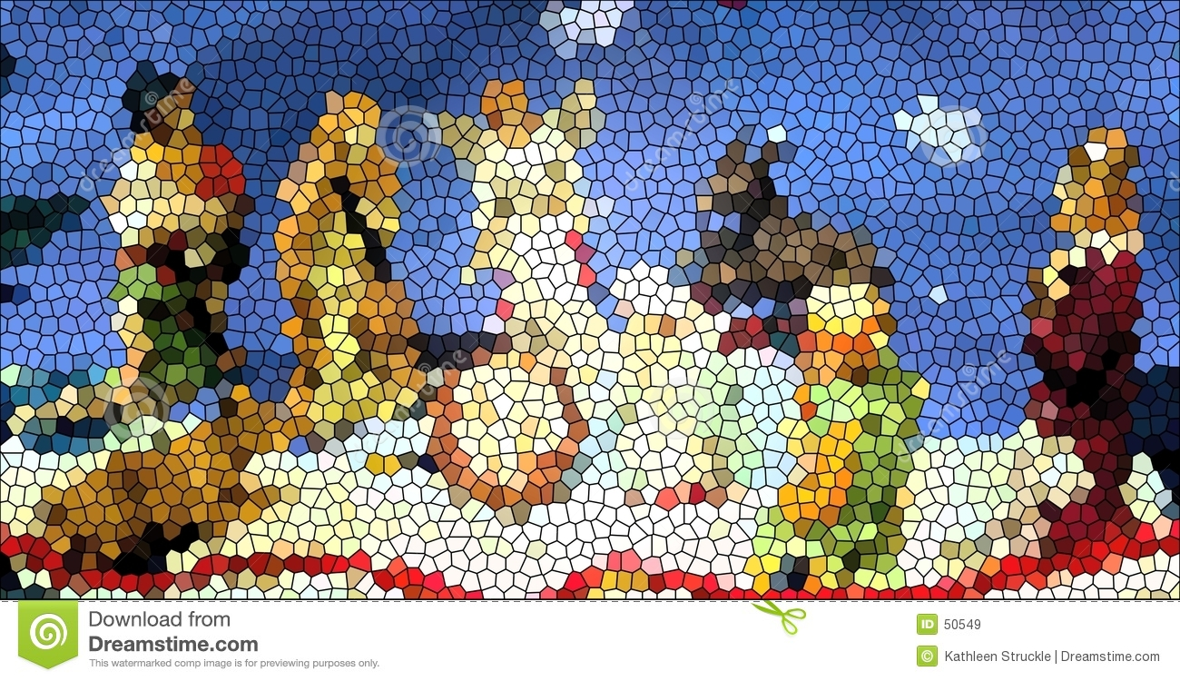 Creche glass stained