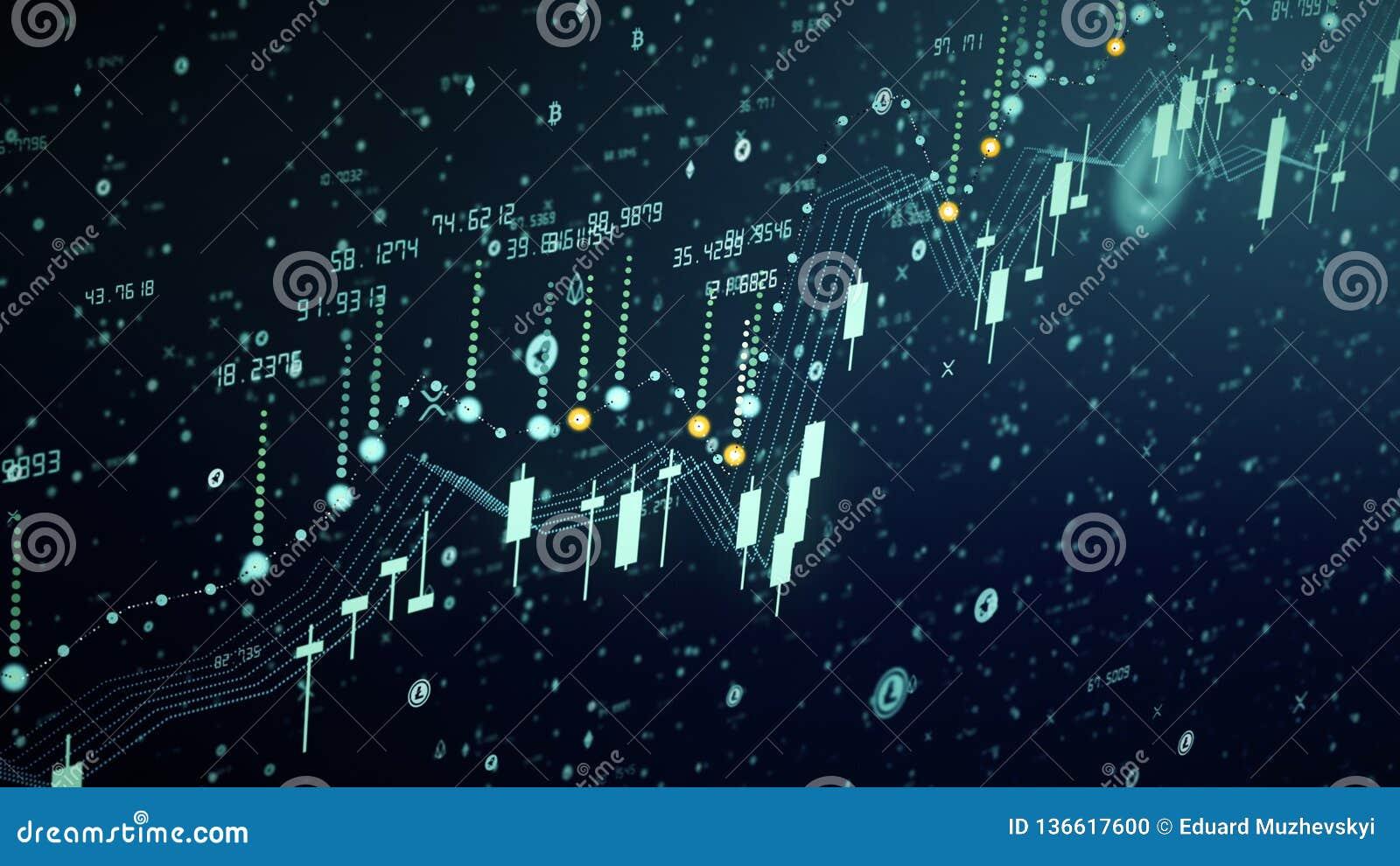 Crecimiento financiero del diagrama en el mercado disparatado, mostrando beneficio del crecimiento y del aumento