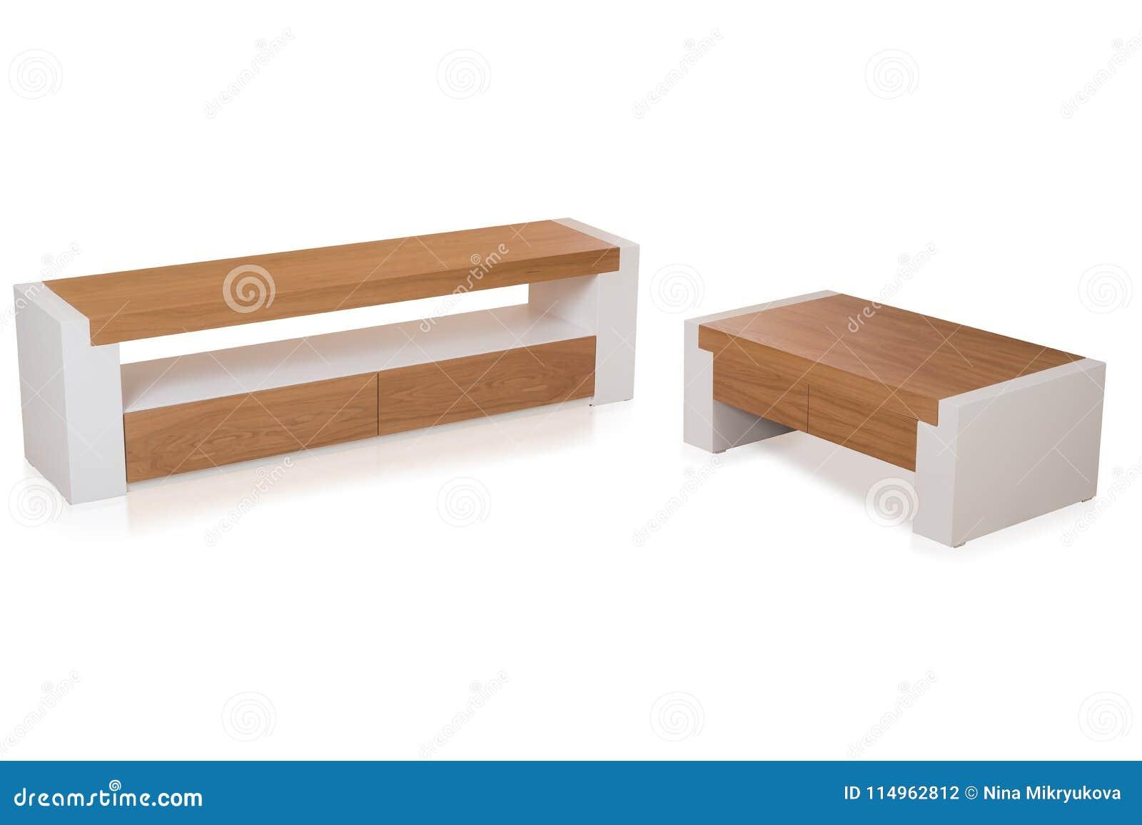 Credenza Da Salotto : Credenza di legno moderna per il salone con tavolino da salotto