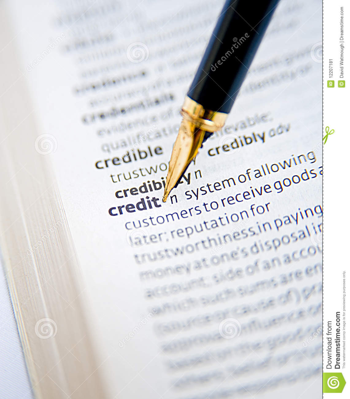 Credit: buy now pay later  stock image  Image of focus