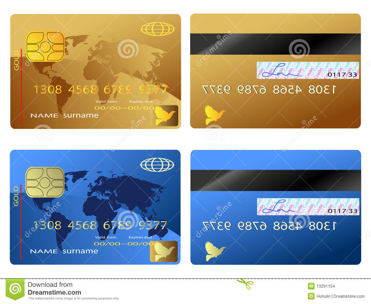 Credit Card Stock Images - Image: 13291154