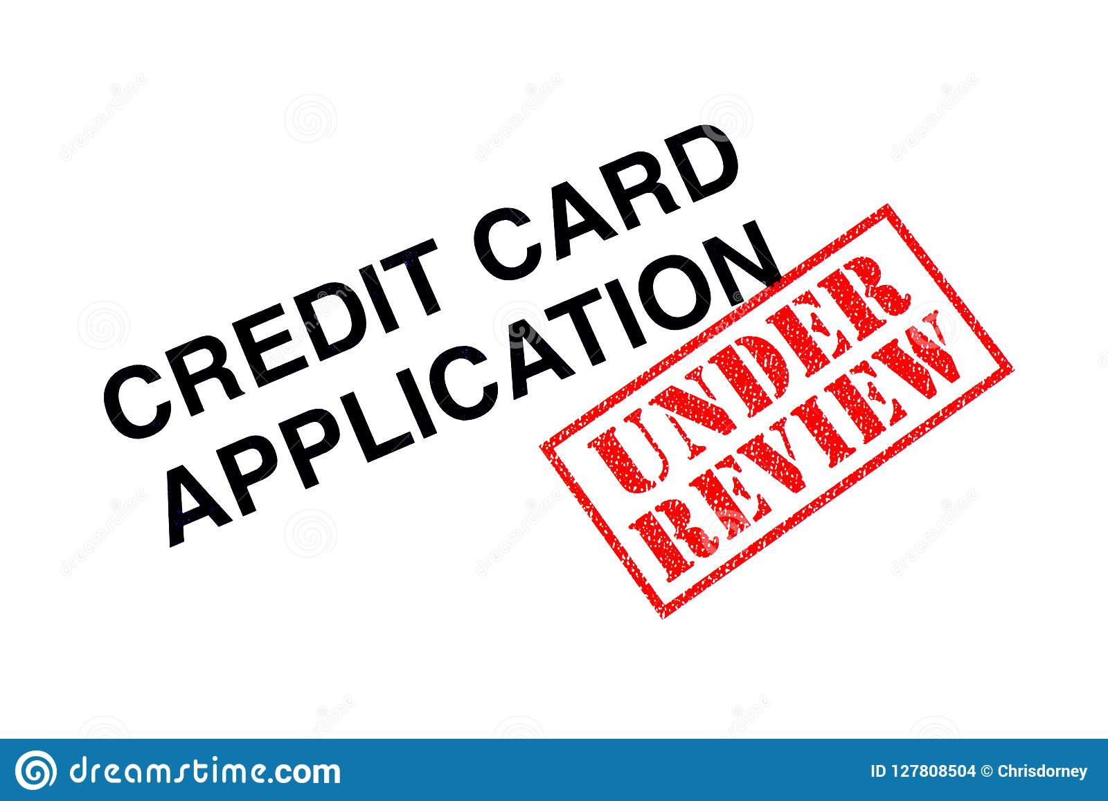 Credit Card Application Under Review Stock Photo - Image of