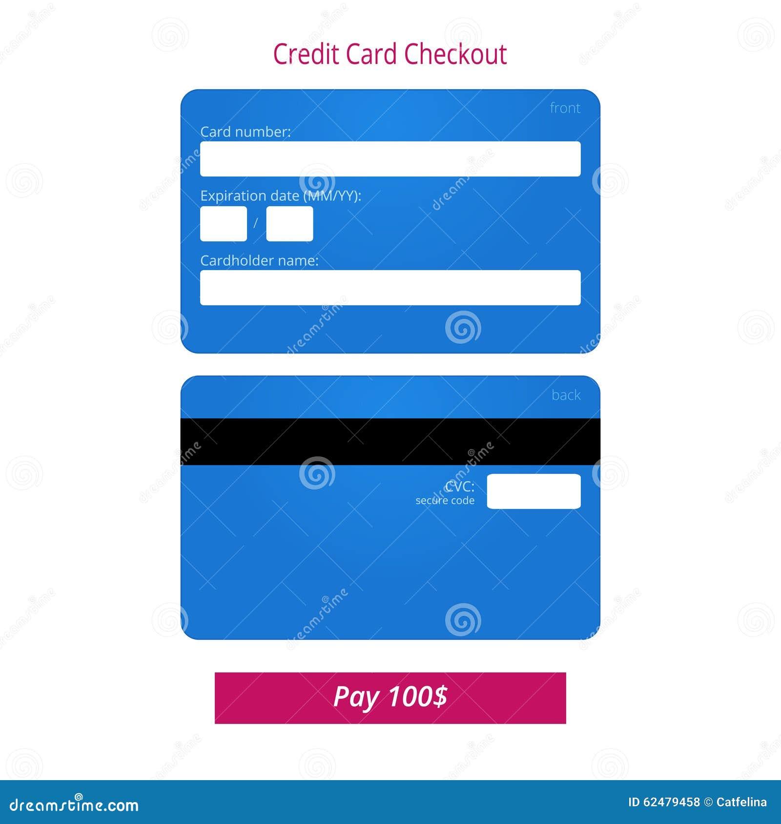 credit card csv security code cartoon vector