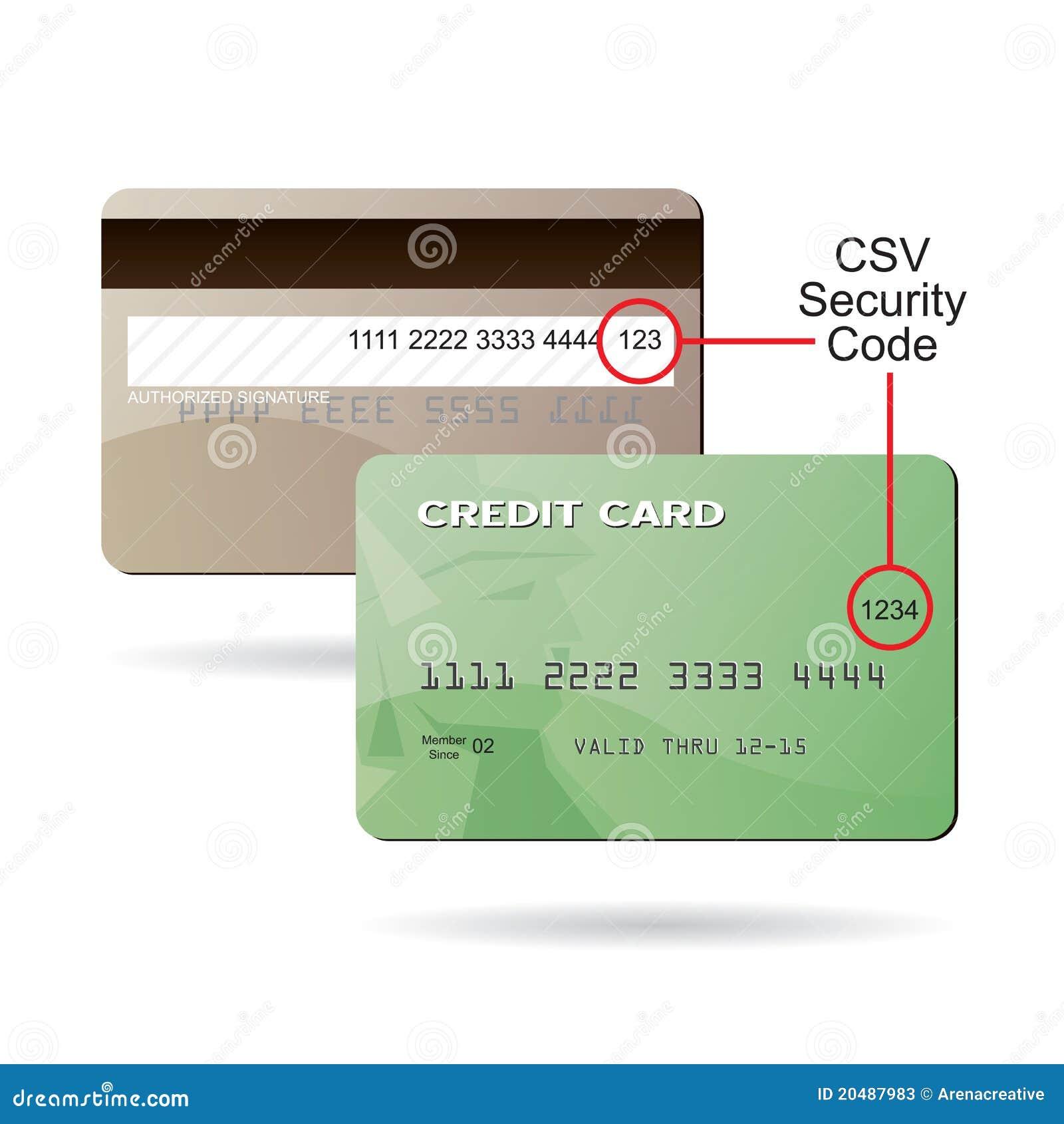 credit card csv security code stock photos