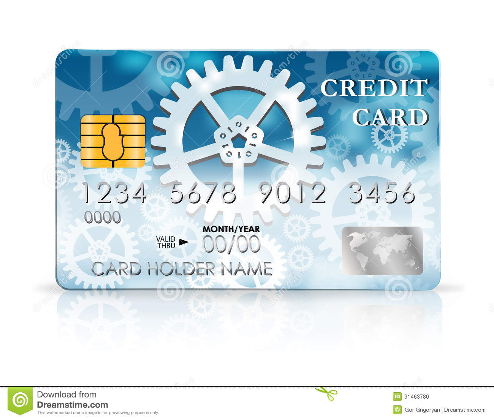 Credit Card Design Template Stock Vector