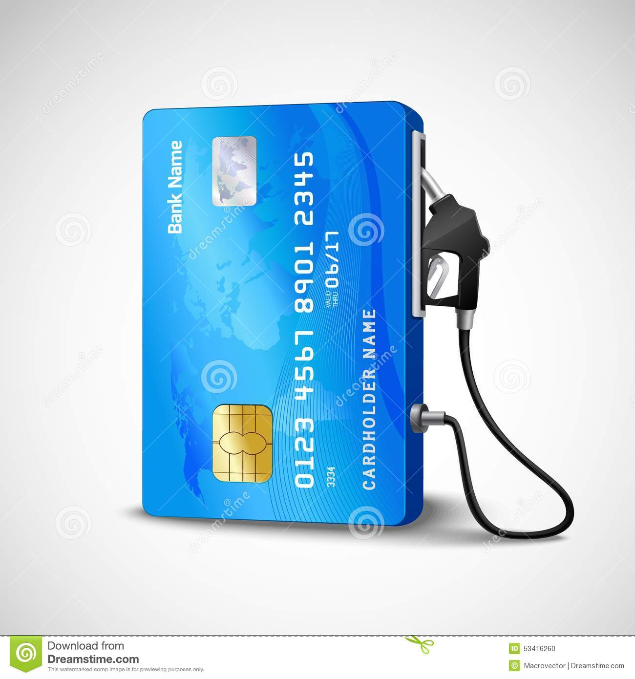 credit card gas station stock vector   image 53416260