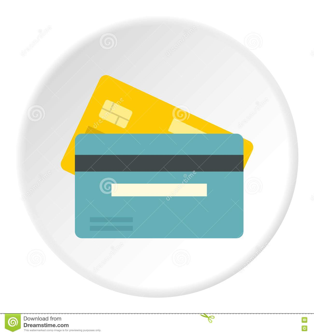 Credit Card Icon, Flat Style Vector Illustration ...