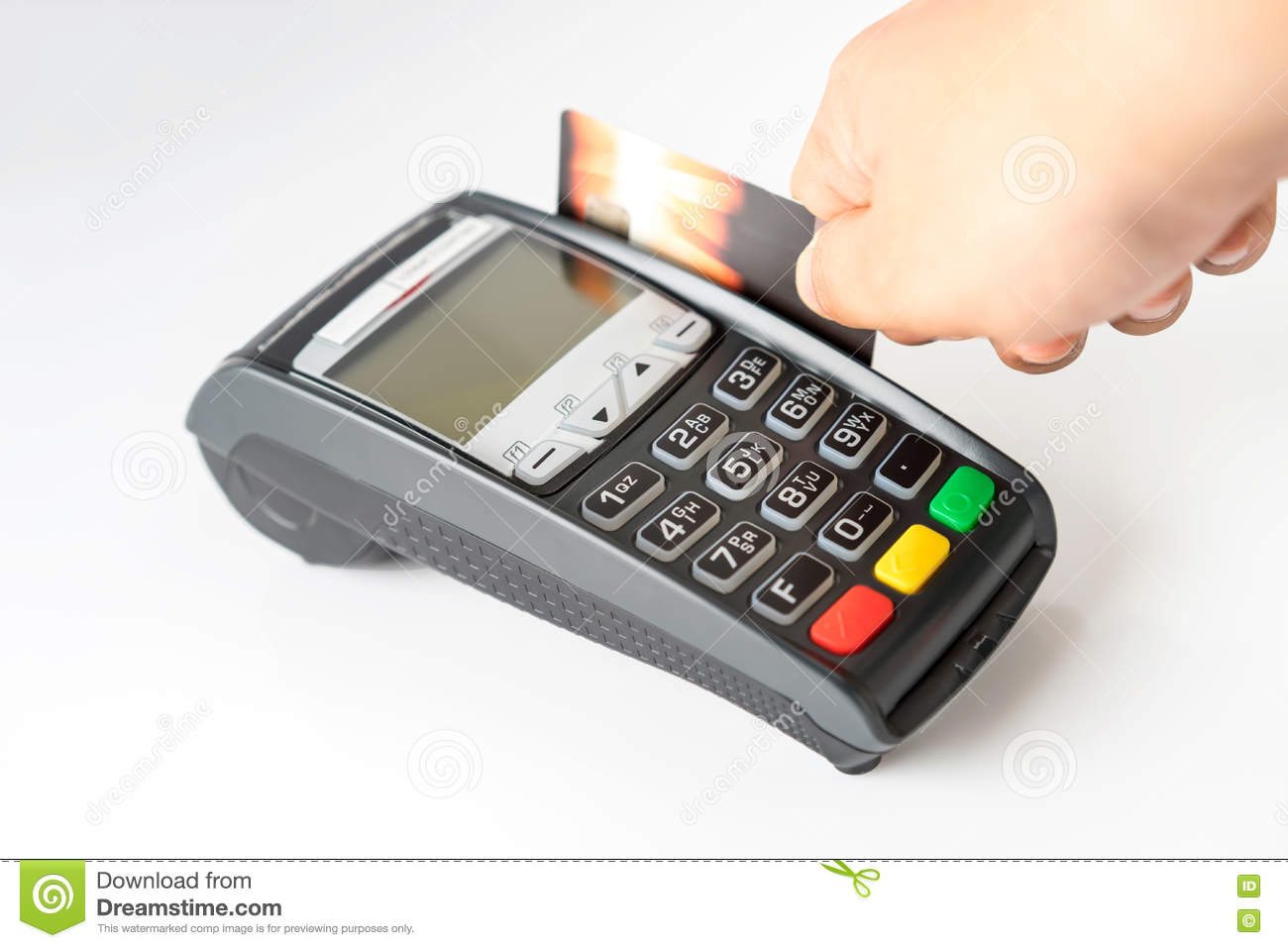 Credit Card Payment, Buy And Sell Products Stock Image - Image of