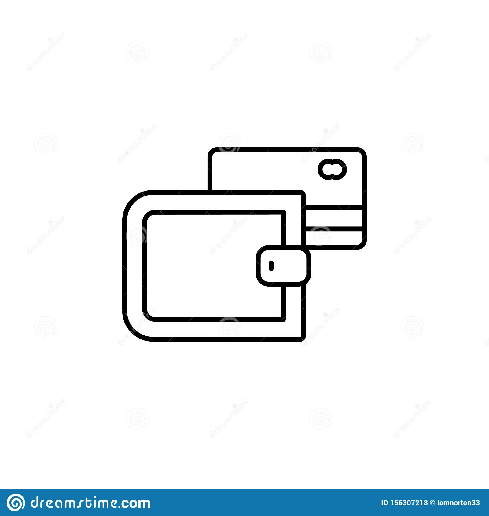 Credit Card, Payment Icon. Simple Thin Line, Outline ...
