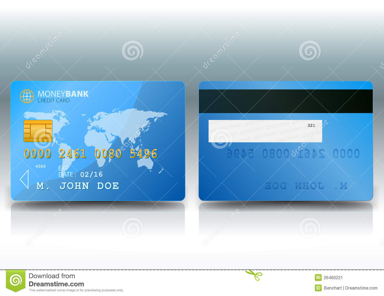 Credit Card Sample Stock Image - Image: 26460221