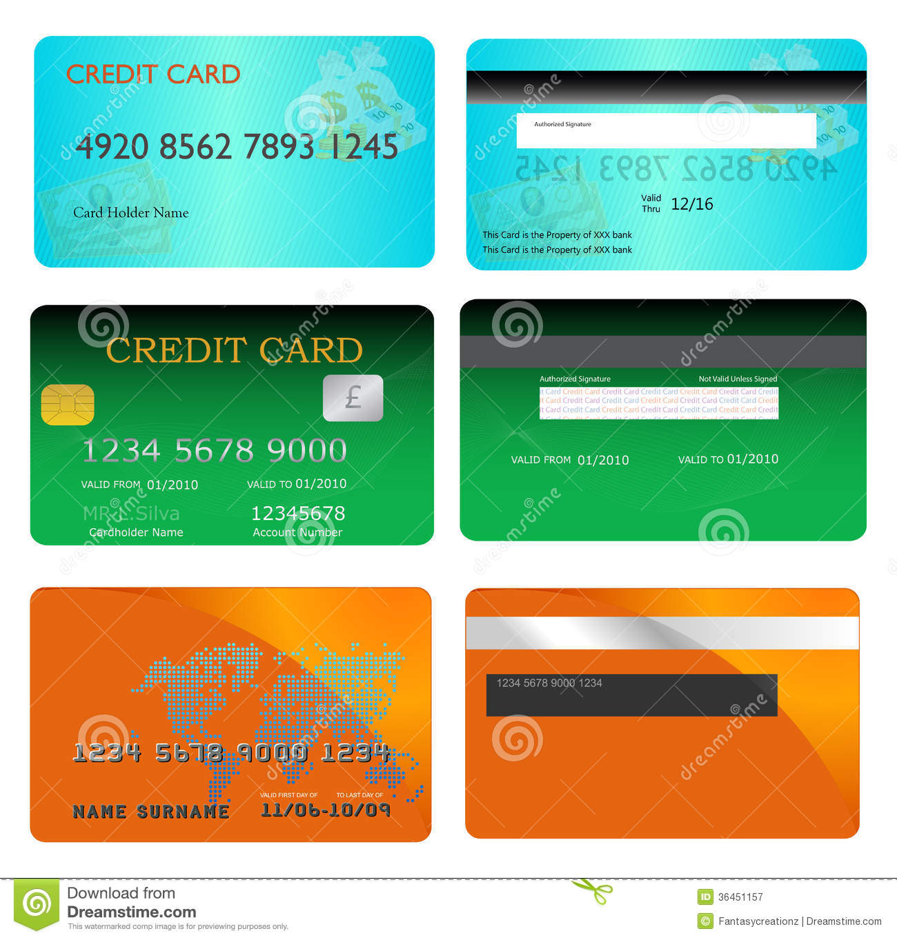 Credit Card Stock Vector Illustration Of Account Credit 36451157