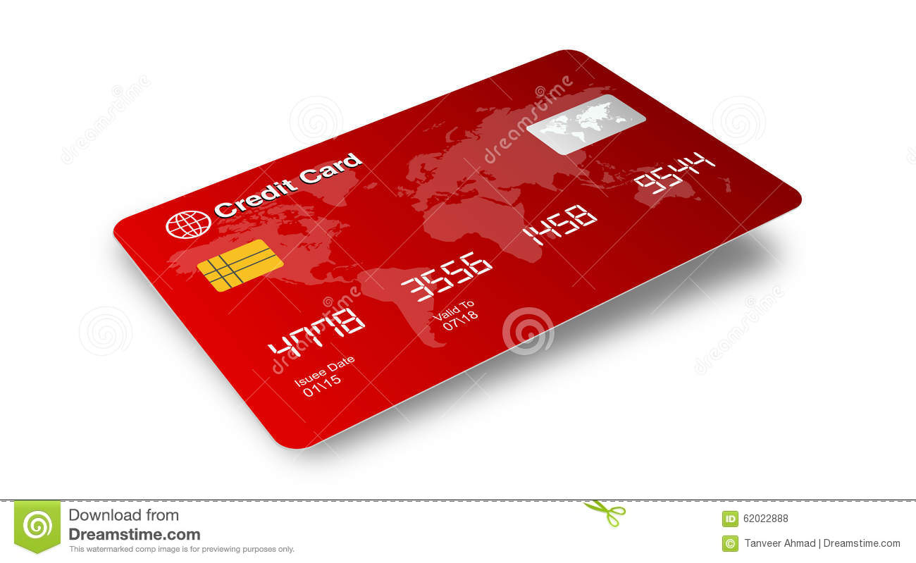 credit card with shadow isolated on white background stock