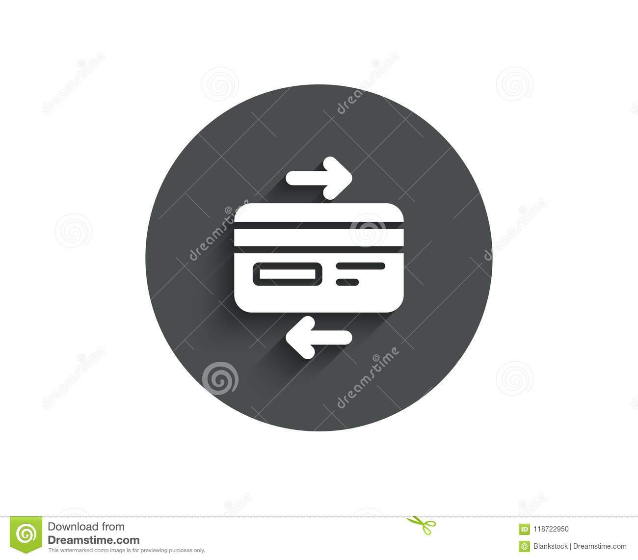 Credit Card Simple Icon. Bank Payment Method. Stock Vector ...