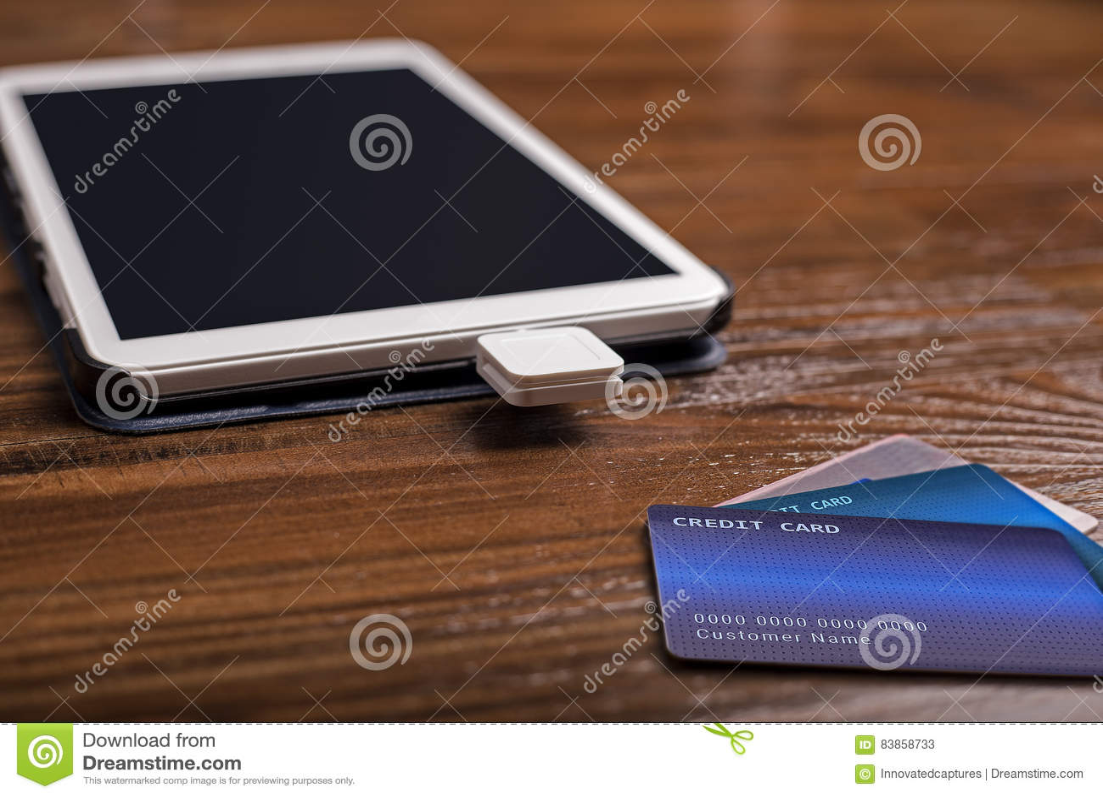 Credit Card Swipe Reader stock image. Image of machine ...