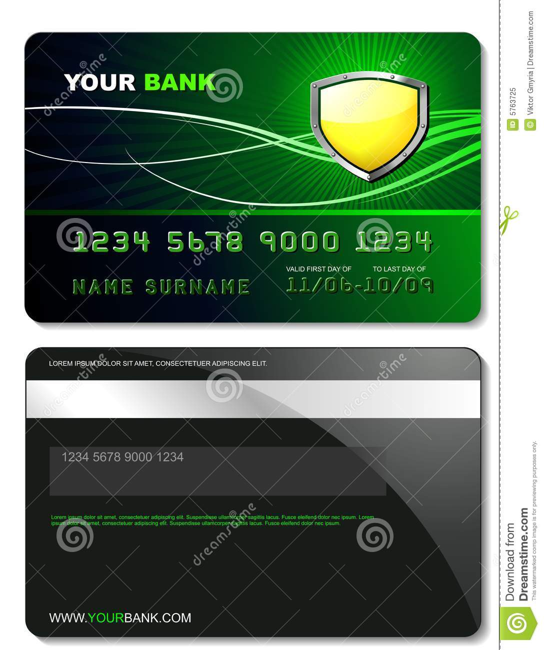 credit card template royalty free stock photo image 5763725