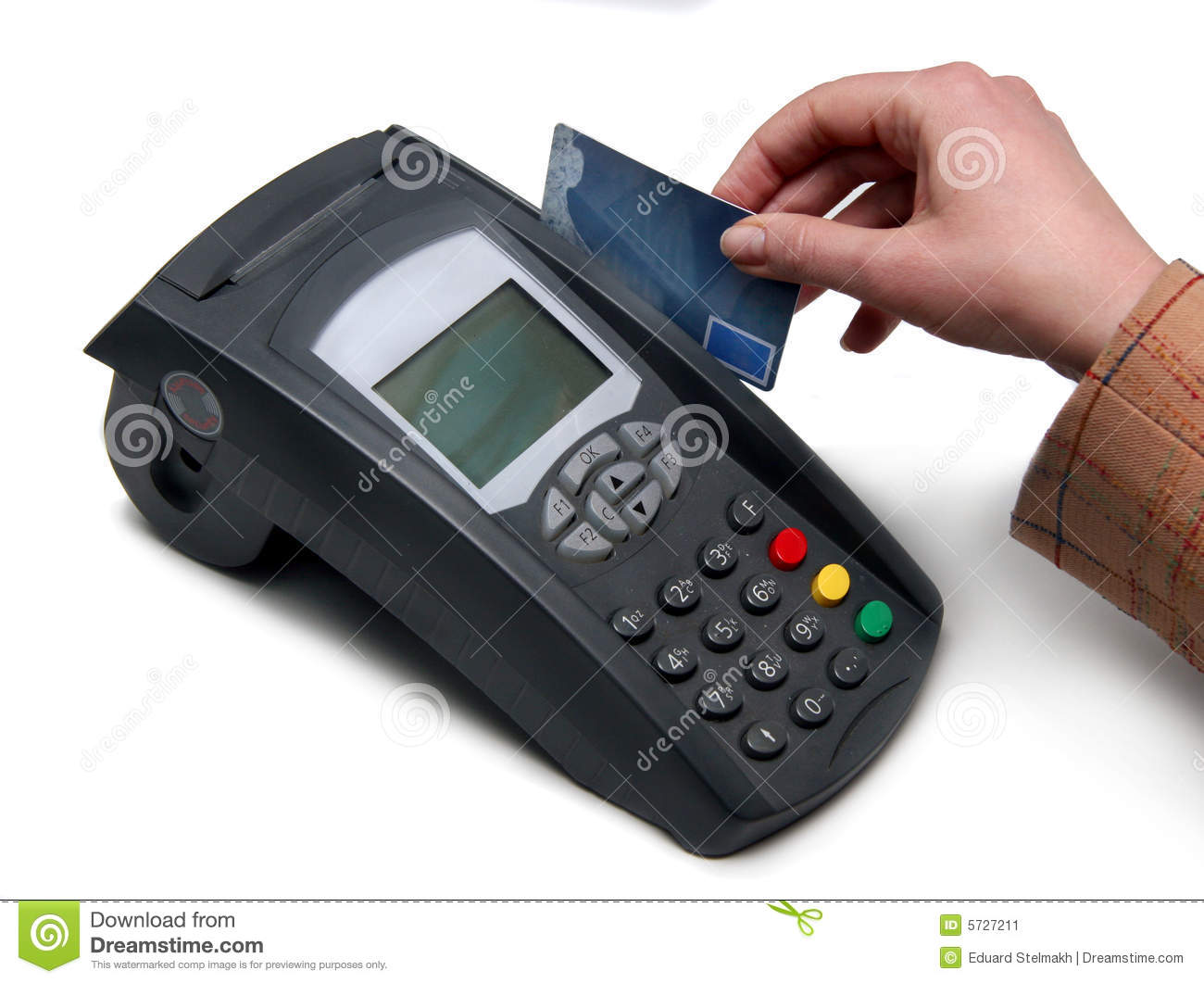 Credit Card Terminal Pos Terminal For Payment Stock