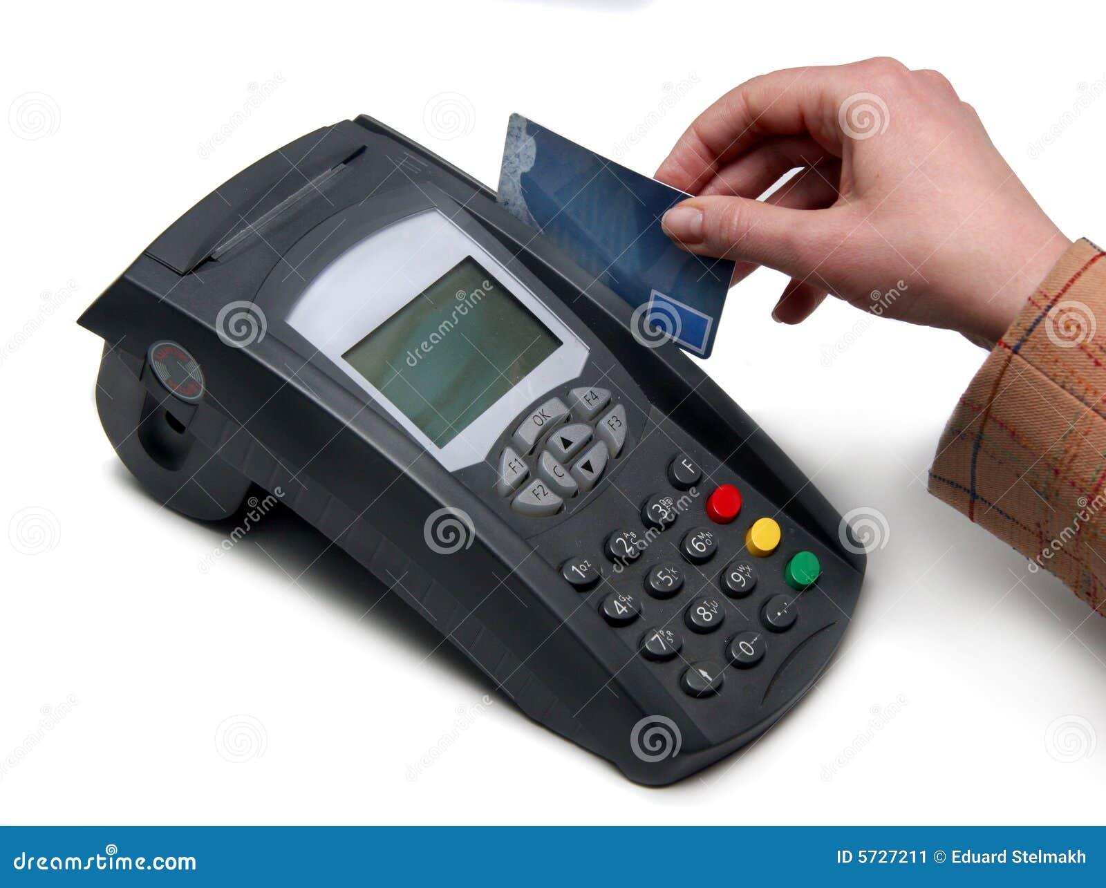 Credit Card Terminal POS terminal For Payment Stock