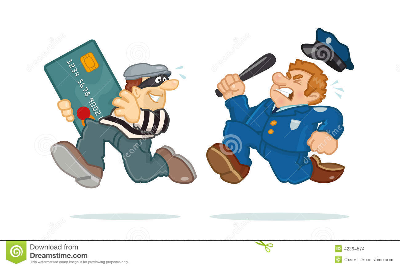 Credit Card Thief Stock Vector Image 42364574