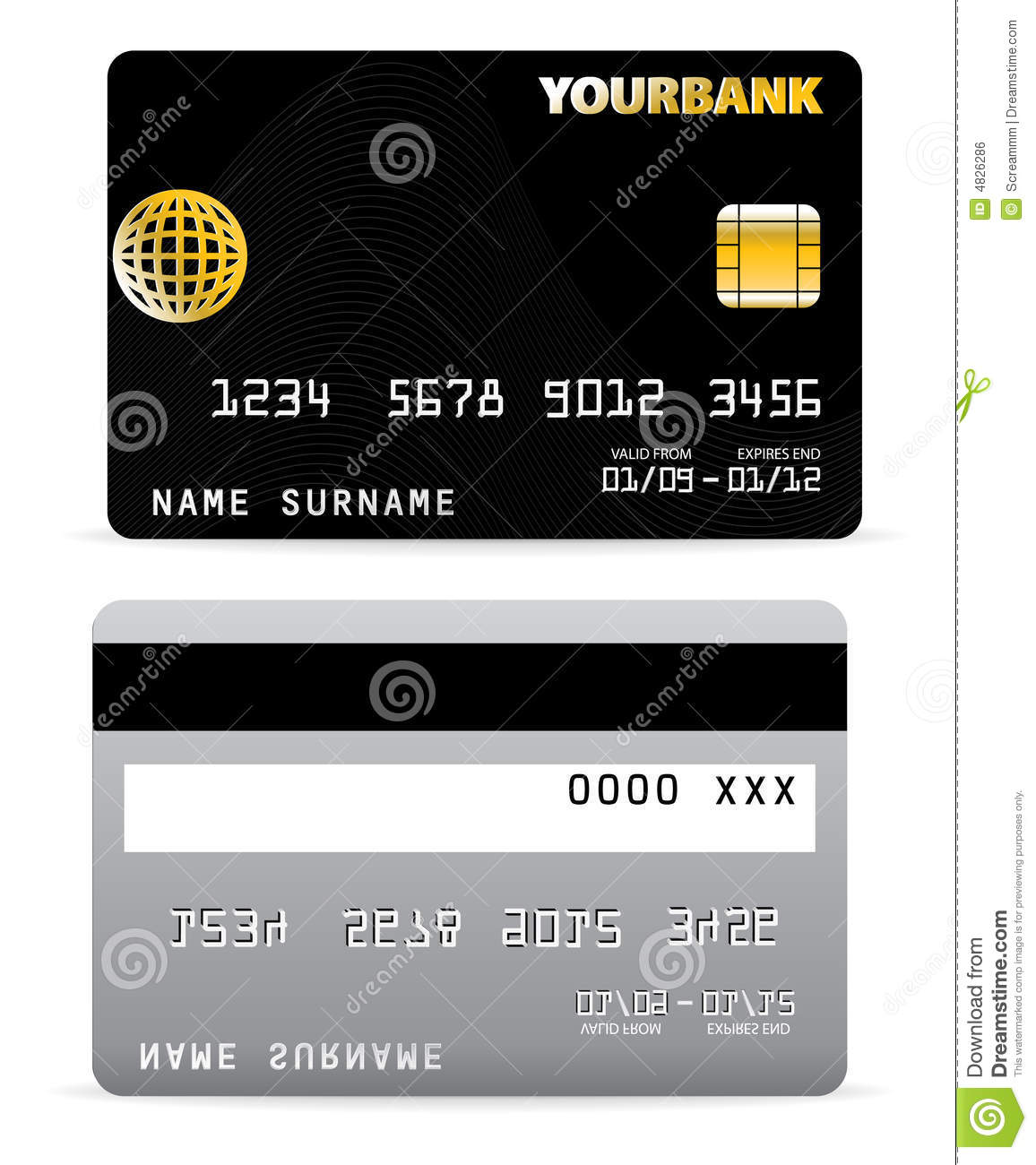 Credit Card On Wave Lines Back Royalty Free Stock Image Image 4826286