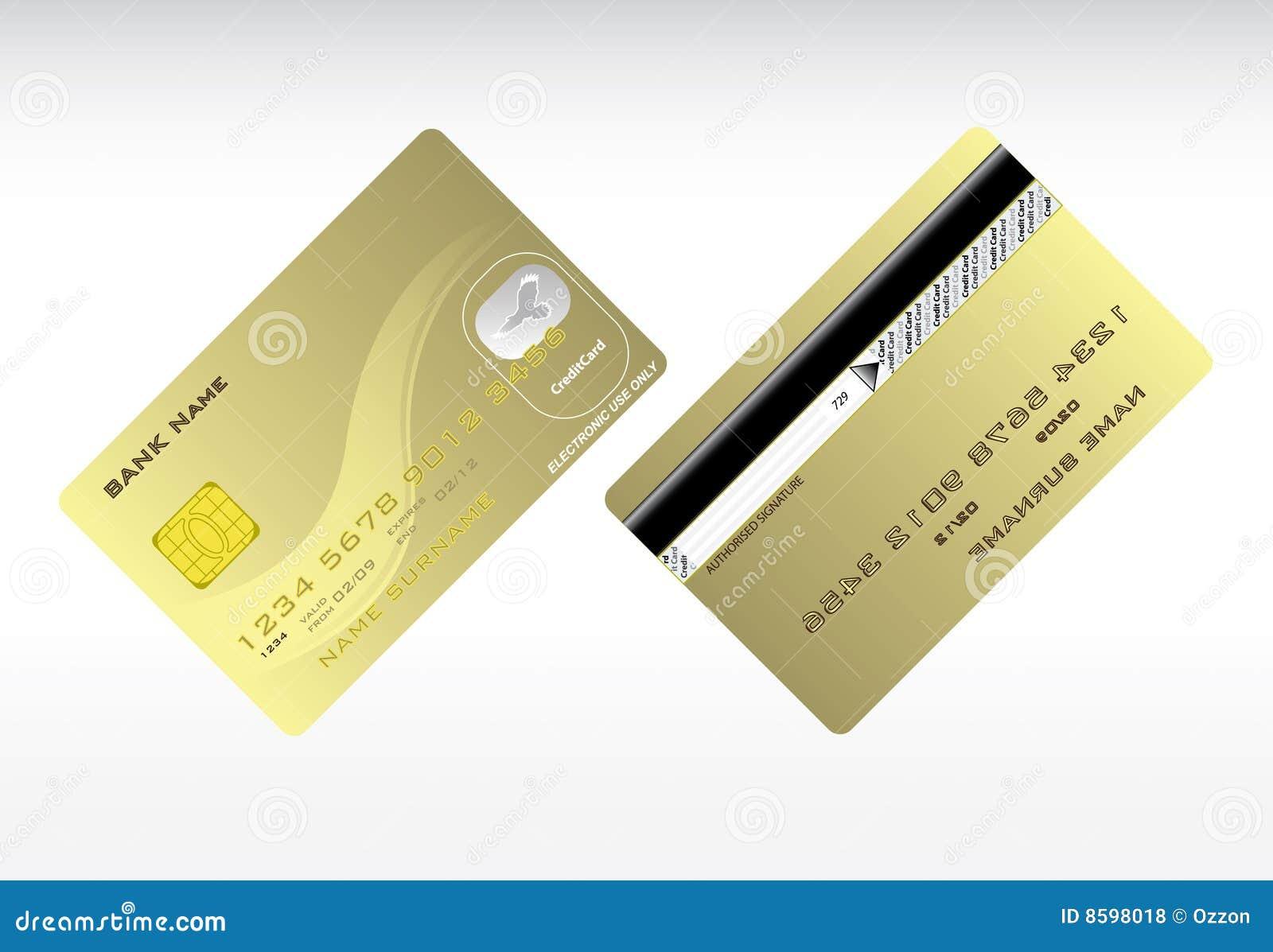 credit cards - Plastic Credit Card