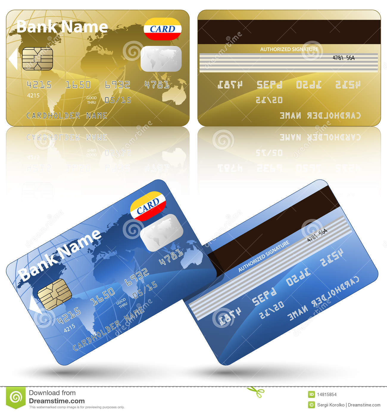 credit card front and back infocardco